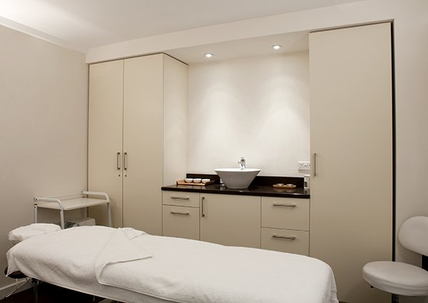 Beauty treatment room at Embody Wellness in Vauxhall, South London